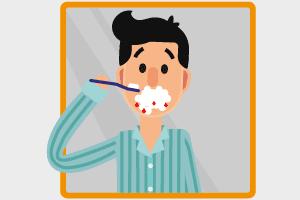 Sanguinamento delle gengive mentre spazzoli i denti